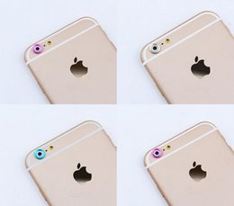 Wholesale Cell Phone Charms For Iphone - For iPhone 6 6 Plus 4.7 5.5 Unique Fashion Rear Back Camera Glass Lens Metal Ring Protective Camera Protector Cell Phone Charms 5 Color