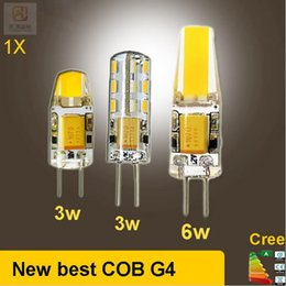 Wholesale G4 Warm White Led Bulb - 2016 DC AC g4 COB 12v Led bulb Lamp SMD 3014 3W 5W 6W Replace 10w 30w halogen lamp light 360 Beam Angle