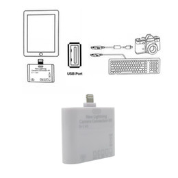 Wholesale Adapter For Ipad Sd - USB MS MMC TF SD Card Reader Adapter for iPad Mini   Mini 2   iPad 4 Air 5in1 Camera Connection Kit