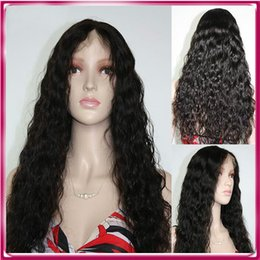Wholesale Extra Long Blonde Hair - Cheap wigs for black women extra long remy human hair brazilian curly full lace wig