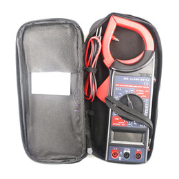 Wholesale Multimeter Electronic Tester Ac Dc - New LCD Digital Clamp Multimeter AC DC Electronic Voltage Current Resistance Tester Meter Data Hold Function DT266