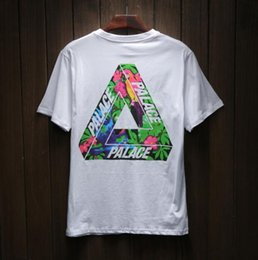 Wholesale Boys Skateboard Clothes - 2017 palace skateboards classic triangle print mens t shirt fashion basic summer noah clothing cotton short sleeve loose tees tops for boys