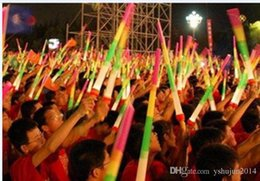 Wholesale Prop Plastic Sword - Telescopic LED Glow Stick Flash Light Toy Fluorescent Sword Concert Christmas Carnival Toys LED Light Sticks Luminous Sticks LED Cheer Props