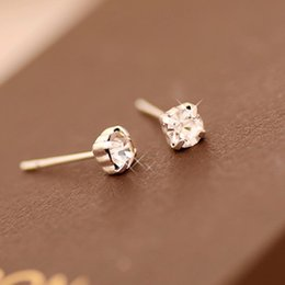 Wholesale Imitation Jewelry Wholesale - Korean version of flash diamond jewelry wholesale earrings platinum diamond crystal gemstone earrings free shipping claw