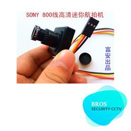 Wholesale Cctv Board Osd - FPV camera Sony HD CCTV 800 line CCD board MP HD lens AV Mini Aerial machine with OSD