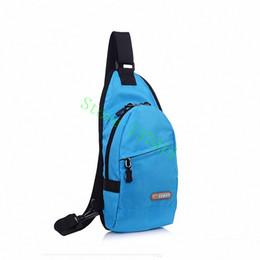 Wholesale Waterproof Cross Body Outdoor Bag - Wholesale-Nylon waterproof Chest Back Outdoor Hiking Sport bags Men Women lovers sweethearts Diagonal messenger bag Rucksacks