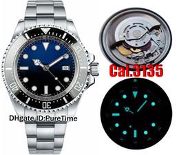 Wholesale Super D - NOOB NF V7 Best Edition Cal.3135 Super 3135 Automatic Movement Black Ceramics Bezel D-Blue Dial Mens Watch Blue Luminous Top Quality Rollie