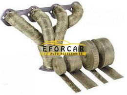 """Ruban noué en Ligne-Chaîne de tuyau d'échappement de boucliers thermiques de bouclier thermique de rouleau d'enveloppe de bande de chaleur thermique d'échappement de 2 """"x5m avec 10 liens en acier inoxydable"""