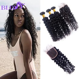 Wholesale Best Pure Water - Best Quality Brazilian Virgin Human Hair Water Wave Bundles With Lace Closure Brazilian Water Wave Human Hair Extensions With Closure