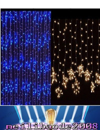 Wholesale Fairy Backgrounds - Outdoor 3M * 3M 300 Led Curtain Light Strings Waterproof Xmas Wedding Party Festival Background Decoration Flash Fairy String MYY1661