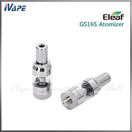 100% Original iSmoka Eleaf GS16S BDC Atomizador inferior Dual Coil Clearomizer 1.0 ml Pyrex Glass Tube Mejor eGo 510 Atomizador para iStick Mini 10W desde fabricantes