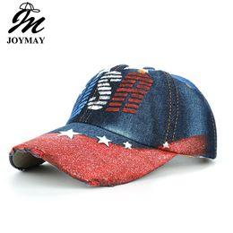 Joymay Cowboy Gorras de béisbol para hombres y mujeres Casquette pintado a  mano EE. UU. Star Peaked Hats Marca Moda de alta calidad Deportes Cap B480  ... 97e4147ec66