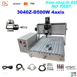Wholesale Rotational Axis - Free tax to UK!!4 axis cnc milling machine 3040Z-D500W china cnc wood router, linear bearings+rotational axis already assembled