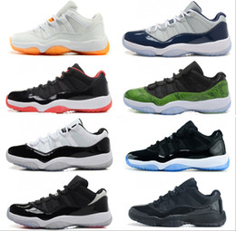 Wholesale Space Boots - 2015 New Retro 11 Low Basketball Shoes Bred Georgetown Space Jam Citrus GS Basketball Sneakers Women Men Low Cut Athletics Boots Retro