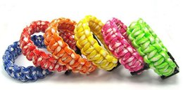 Wholesale Camping Cords - 2015 new mix colors you pick Self-rescue Paracord Parachute Cord Bracelets Survival bracelet Camping Travel Kit