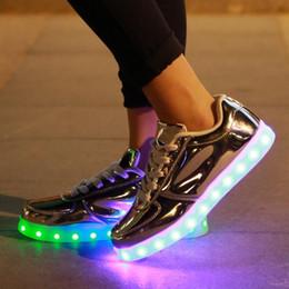 Wholesale Hip Hop Shoes For Men - 7 Colors Luminous shoes unisex Led glow shoe men & women fashion USB rechargeable light led shoe for adults LED Hip-Hop shoes size 35-46