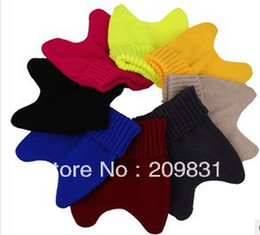 Wholesale Knit Hats Wholesale Prices - Wholesale-Free shipping+lady candy color cat ear hats+wool knit Skullies & Beanies cap+wholesale price