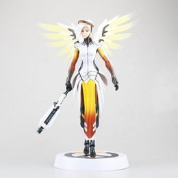 Wholesale Sonic Watches - Love Thank You game watch Mercy Angela Ziegler 28cm PVC Anime figure toy Model gift new