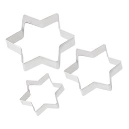 Wholesale Star Shaped Cookies Cutter - Wholesale-3Pcs Lot Star Shape Cookie Pastry Cake Decorating Cutter Craft Metal Mold DIY Tools cooking tools NEWHot New Arrival