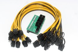 Wholesale 2pin Cable - F21761 Mining Power Supply Kit: 10*6Pin Port Breakout Adapter Board with 10pcs 50CM UL 1007 18AWG 6Pin Male to 6+2Pin Male Cable