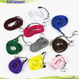 Wholesale E Cigarette C Clip - Lanyard ego Ring Necklace String Neck Chain Sling w Clip Ring Lanyards for Ego Series ego-t ego-c ego-w Battery Mods E Cigarettes Mix colors
