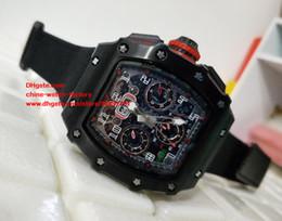 Wholesale Fiber Tags - Best Edition Watch 44mm x 49mm RM 011 03 RM011 Carbon Fiber Chronograph Working Swiss ETA 7750 Movement Automatic Mens Watch Watches