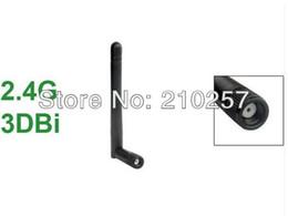 Wholesale High Gain Wifi Aerial - Wholesale-Free Shipping 5pcs 2.4g 3dbi Omni High Gain Wifi Antenna RP Sma Male Plug Aerial 109mm