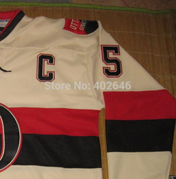 Wholesale W Ice - 2015 New 2014 HERITAGE classic, Ice Hockey Senators #65 Erik Karlsson jerseys, w   C patch