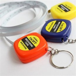 Wholesale Measuring Tape Wholesale - measure tapes Mini 1M Tape Measure keychain keychains Steel Ruler Portable Pulling Rulers With Key Chain rings christmas gift