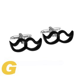 Wholesale Moustache Silver - High Quality New Classic Silver Copper Mens Wedding Cufflinks Novelty Rare Fancy Moustache & Clean Cloth 210125