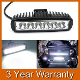 Wholesale 4wd Tracks - 6Inch 18W 6LEDs Work Light Bar Spot Driving Lights Offroad Fog 4WD Great For Jeep Cabin Boat SUV Truck Car ATV IP67 order<$18no track