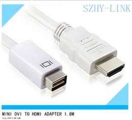 2019 cable dvi de apple Mini DVI a HDMI cables adaptador cable adaptador cabo kabel para Apple Macbook JB10 cable dvi de apple baratos