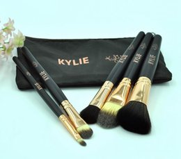 Wholesale Makeup Brush Gift Set - HOTTEST new Kylie Makeup Complexion Brush Set 5 pieces Makeup Tools Free shipping+GIFT