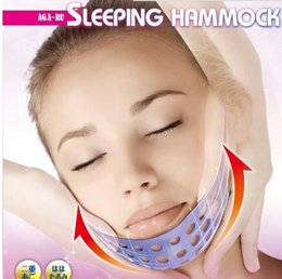 Wholesale Face Mask Massager - Japan Elastomer Sleeping Kogao Hammock Face Mask Chin Cheek Sag Slack Stretching Massage Face Chin Massager Free shipping 100pcs lot