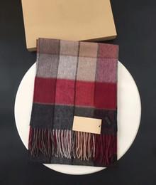 Wholesale Warm Cashmere Scarf Mens - Luxury Mens Red Grey Check Cashmere Winter Scarf Wrap Shawl Stole Soft Warm Shawl Scarves Brand Winter Ne