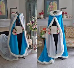 Wholesale Cheap Faux Fur Jackets - Cheap 2018 Stunning Bridal Capes Wedding Cloaks Faux Fur Perfect For Winter Wedding Bridal Cloaks Cape Wedding Cape