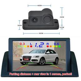 Wholesale Car Reversing Parking Sensor - 2 in 1 Car Camera Parking Reversing Radar Sensor Rear View Backup Night Vision CCD Camera