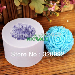 Wholesale Chocolate Decorating - 3D Rose Shape Silicone Mold DIY Chocolate Candle Cake Decorating Tools Silicone Soap Mold Soap Mold For The kitchen accessories