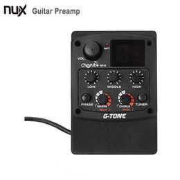 Wholesale Guitar Chorus - Wholesale- Cherub GT-6 G-Tone Acoustic Guitar Preamp Piezo Pickup LCD Tuner with Reverb Delay Chorus Wide Effects Guitar Accessories