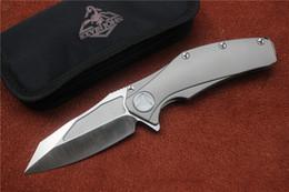 Kevin John manico in titanio S35vn lama a ricircolo di sfere pieghevole coltello da caccia tattico da campeggio tasca strumento EDC da