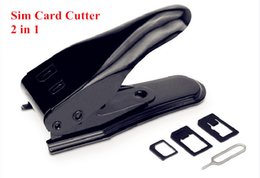 cutter plus Coupons - Dual Micro Sim Cutter for iPhone 6 Plus 5S 5C 5 4s 4 with Nano Micro Standard SIM Card Adapter Sim Card Tray Holder Simon2010 US5