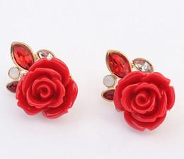 Wholesale Vintage Silver Rose Ring - Earrings for Women Fashion Jewelry New Korean Earring Studs Pack Wedding Ring Wholesale Vintage Rose Stud Earrings