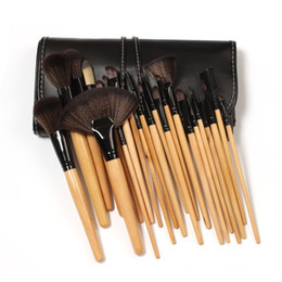 Wholesale Nylon Soft Case - high quality 24Pcs Professional Makeup Brushes make up Cosmetic Brush Set Kit Tool with retail soft case