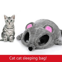 Wholesale Cat Beds Free Shipping - Wholesale-Pet Cute Kennel Nest Puppy Warm Dogs Cat Bed Cute Sleeping Bag House Cushion Mat Free shipping Dropshipping