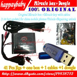 Wholesale Mobile Phones Unlocking Box - Hot Sale Original Miracle box +Miracle key with cables (1.88 hot update) for china mobile phones Unlock+Repairing unlock