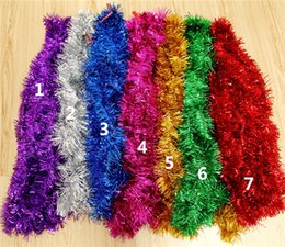 Wholesale Wholesale Christmas Tinsel - Christmas Tinsel Party Decoration Xmas Decorations VINTAGE German Traditional Christmas Lametta Tinsel Icicles approx: 400 strands