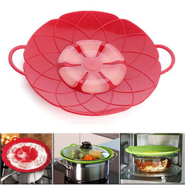Wholesale Silicone Lids Covers - 2017 Flower Petal Boil Spill Stopper Silicone Lid Pot Lid Cover Cooking Pot Lids Utensil Pan Cookware Parts Kitchen Accessories Freeshipping