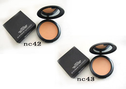 Wholesale New Skin Logos - HOT NEW Makeup Studio Fix Face Powder Plus Foundation with logo 15g Volume High Quality For Christmas Holiday Gift