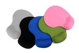 Wholesale Wrist Pad Gel - 2015 TopSell Rubber Mouse Pad Mat With Gel Wrist Rest Support PC Notebook Laptop Free Shipping