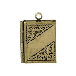 Wholesale Wholesale Rectangle Cameo Settings - Cameo Cabochon 10PCs Pendants Bronze Tone Cabochon Setting pattern carved Rectangle 22mm x16m